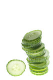 Stacked cucumber Royalty Free Stock Image