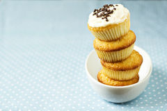 Stacked cupcakes in a bowl Royalty Free Stock Photography