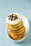 Stacked cupcakes in a bowl Royalty Free Stock Photo