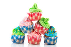 Stacked cupcakes Royalty Free Stock Image