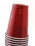 Stacked Cups 2. Stacked Plastic Cups Tight stock photo