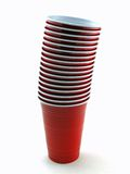 Stacked Cups. Stack of red cups royalty free stock image