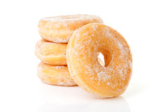 Stacked delicious sugared donuts Royalty Free Stock Photo