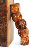 Stacked dice Royalty Free Stock Images