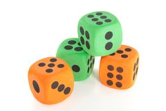 Stacked dice Stock Photo