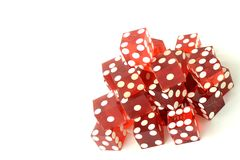 Stacked Dice on White Royalty Free Stock Photography