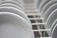 Stacked dishes Stock Image