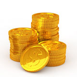 The stacked dollar coins Royalty Free Stock Photos