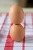 Stacked eggs Royalty Free Stock Photos