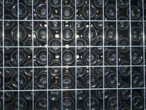 Stacked empty bottles Royalty Free Stock Photography