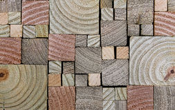 Stacked, End-cut Lumber Wood Grain. Stack of end-cut boards with ringed grain Royalty Free Stock Photo