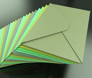 Stacked Envelopes Shows E-mail Symbol Contacting Sending Royalty Free Stock Image