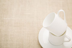 Stacked espresso coffee cups Royalty Free Stock Photography