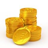 The stacked euro coins Stock Photos