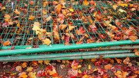 Stacked fences Stock Photo