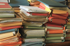 Stacked files Stock Image