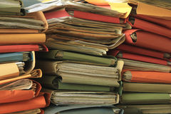 Stacked files Royalty Free Stock Images