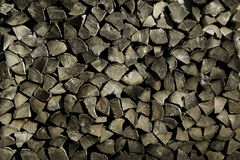 Stacked Fire Wood. A wall of stacked fire wood Stock Images
