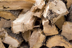 Stacked fire wood Royalty Free Stock Photo