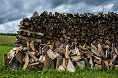 Stacked fire wood Royalty Free Stock Photography