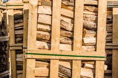 Stacked fire wood Stock Photography