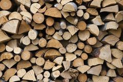 Stacked firewood Royalty Free Stock Photography