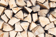 Stacked firewood Stock Photography