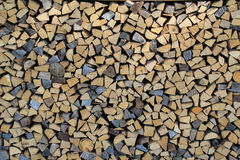 Stacked firewood Stock Photos