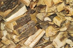 Stacked firewood as background, closeup. Heating house in winter royalty free stock image