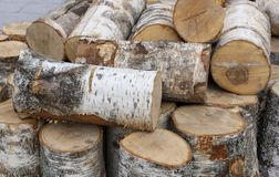 Stacked firewood as background, closeup. Heating house in winter royalty free stock photos