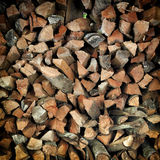 Stacked firewood background, Pile of Lumber background Stock Image