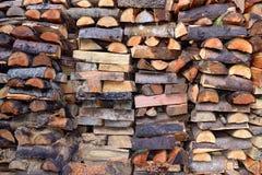 Stacked Douglas Fir Firewood Royalty Free Stock Photos