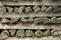 Stacked firewood Royalty Free Stock Photos
