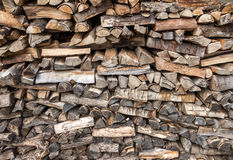 Stacked firewood Royalty Free Stock Photo
