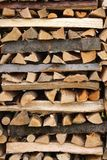 Stacked firewood Royalty Free Stock Image