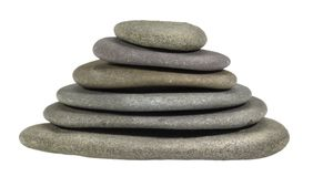 Stacked flat pebbles Royalty Free Stock Photo