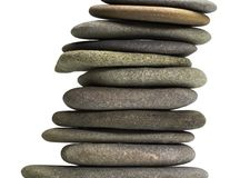 Stacked flat pebbles Royalty Free Stock Image