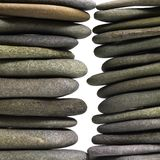 Stacked flat pebbles Stock Photos