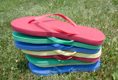 Stacked Flip-flops Stock Photography