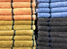 Stacked Fluffy Towels Stock Photography