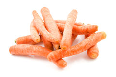 Stacked fresh carrots Stock Images