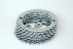 Stacked Gears. A stack of sprockets stock images