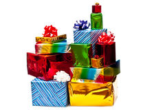 Stacked Gift Boxes Stock Image