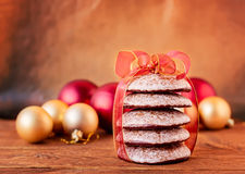 Stacked Gingerbread Cookies Stock Image