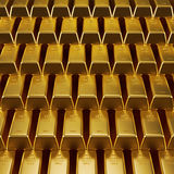 Stacked gold bars. 3d illustration of a stacked gold bars Royalty Free Stock Photography