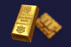 Stacked gold bars Royalty Free Stock Photos