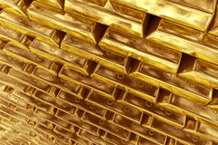 Stacked gold bars Stock Photography