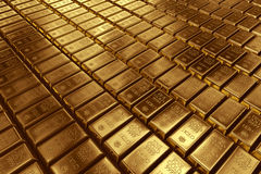 Stacked gold bars Royalty Free Stock Image