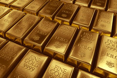 Stacked gold bars Stock Image