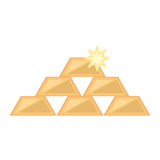 stacked gold bars shiny Stock Photography